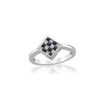 Invisible Setting Blue Sapphire and Diamond ring|インビジブルセッティングブルーサッファイヤーとダイヤモンドリング