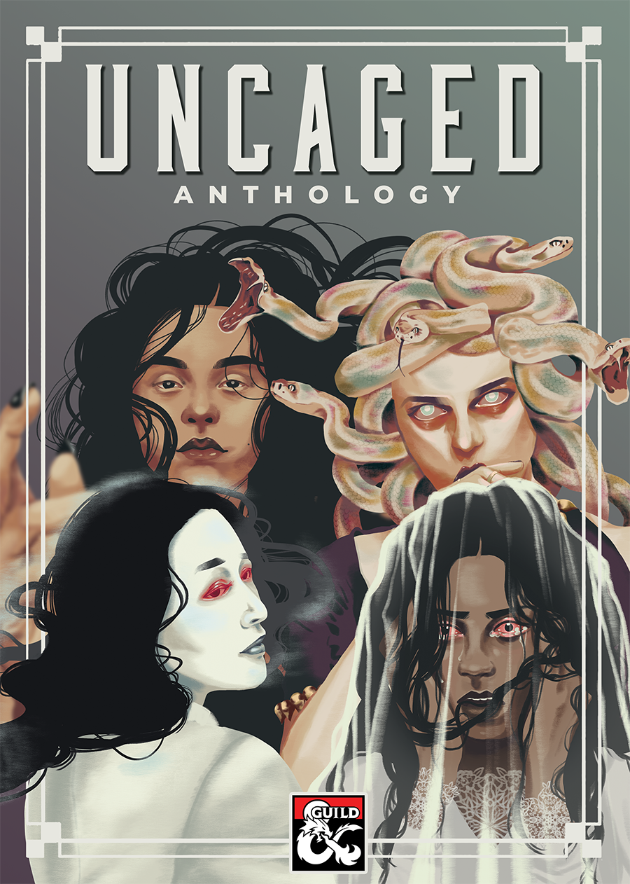 Uncaged Anthology Bundle cover art, featuring the cover creatures from all four volumes.