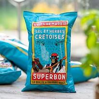 Secrets d'Epiciers Fournisseur Epicerie Fine Chips sel et herbes crétoises