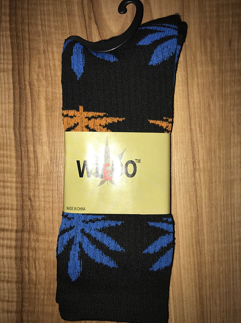 Black & Blue & Orange Socks