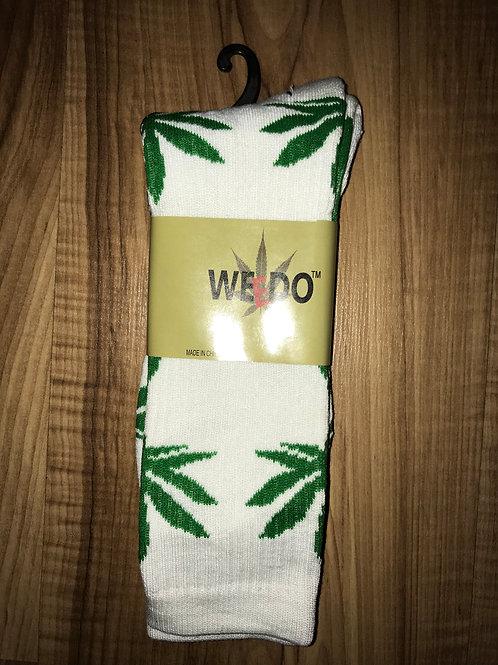 White & Green Socks