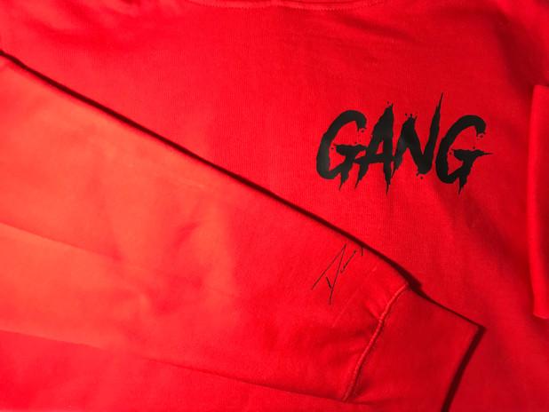 red zbg hoodie