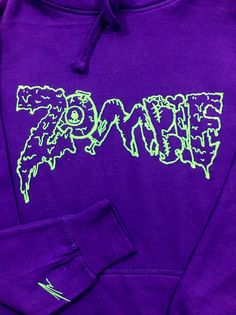 Purple and slime Green Zombie Hoodie