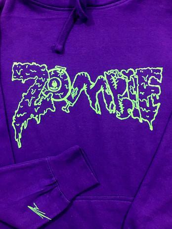 Purple and slime Green Zombie Hoodie