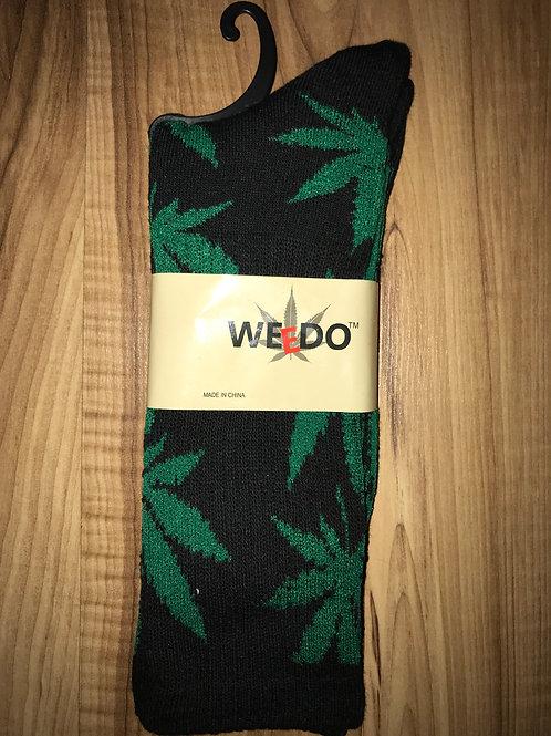 Black & Green Socks