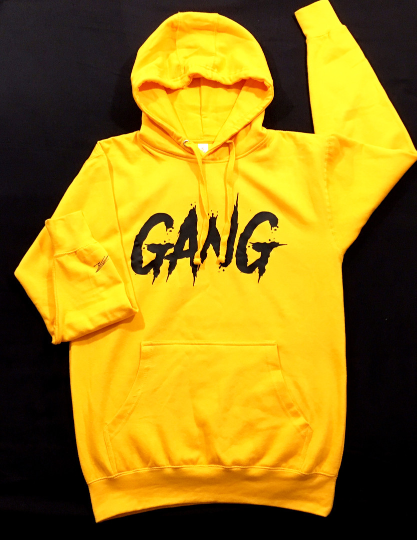 Yellow big GANG Hoodie