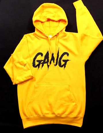 Yellow big GANG Hoodie