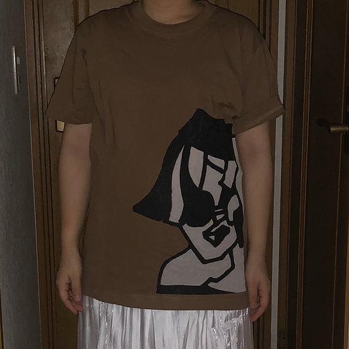 ダークキャラメルお洒落Tシャツ