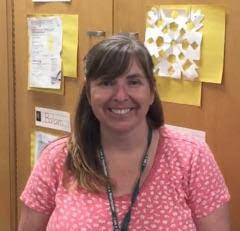 Mrs. Herbst in her classroom.