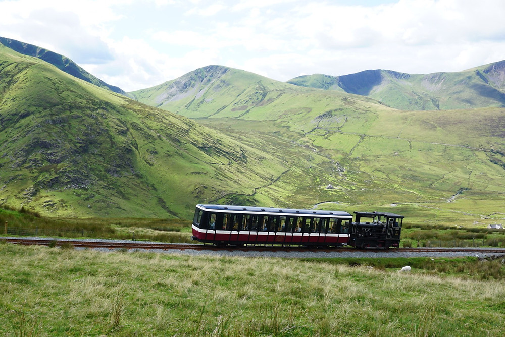 Snowdon Train - view from Llanberis