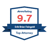 Aggressive Ventura Personal Injury Lawyer Erik FEingold has a 9.7 Top Attorney Avvo rating.