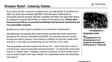 Calamity info