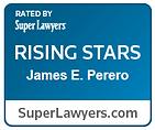 """Attorney James Perero, an associate lawyer at Myers Widders Gibson Jones & Feingold, has been selected a """"Rising Star"""" in the 2017 Super Lawyers list."""