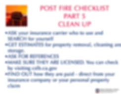 post fire checklist 5