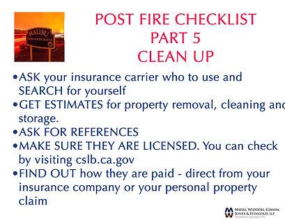 post fire checklist 5