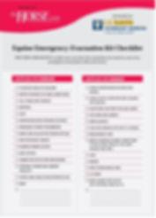 equine evacuation checklist