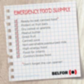 emergency food list