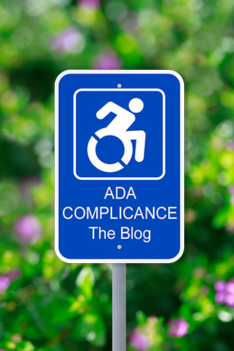 ADA Compliance the blog street sign