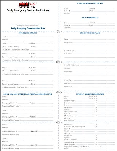 family emergency checklist