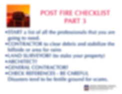 post fire checklist 3