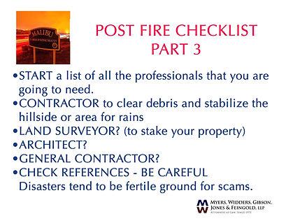 post fire checklist 3