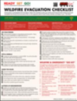 wildfire checklist