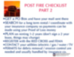 post fire checklist 2