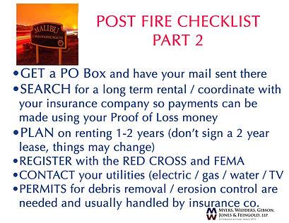 post fire checklist 2