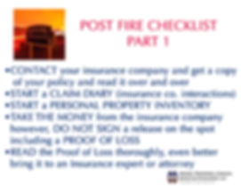 post fire checklist 1