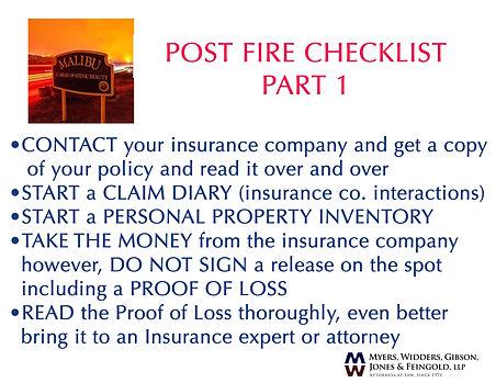post fire checklist 1