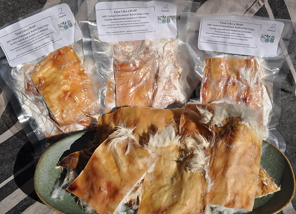 Dehydrated Rabbit Hide Chips-4 Oz.