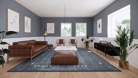 Stue, køkken alrum, nordisk design, egetræ, moderne hjem, tegn mit hus, tegnmithus, salg af bolig