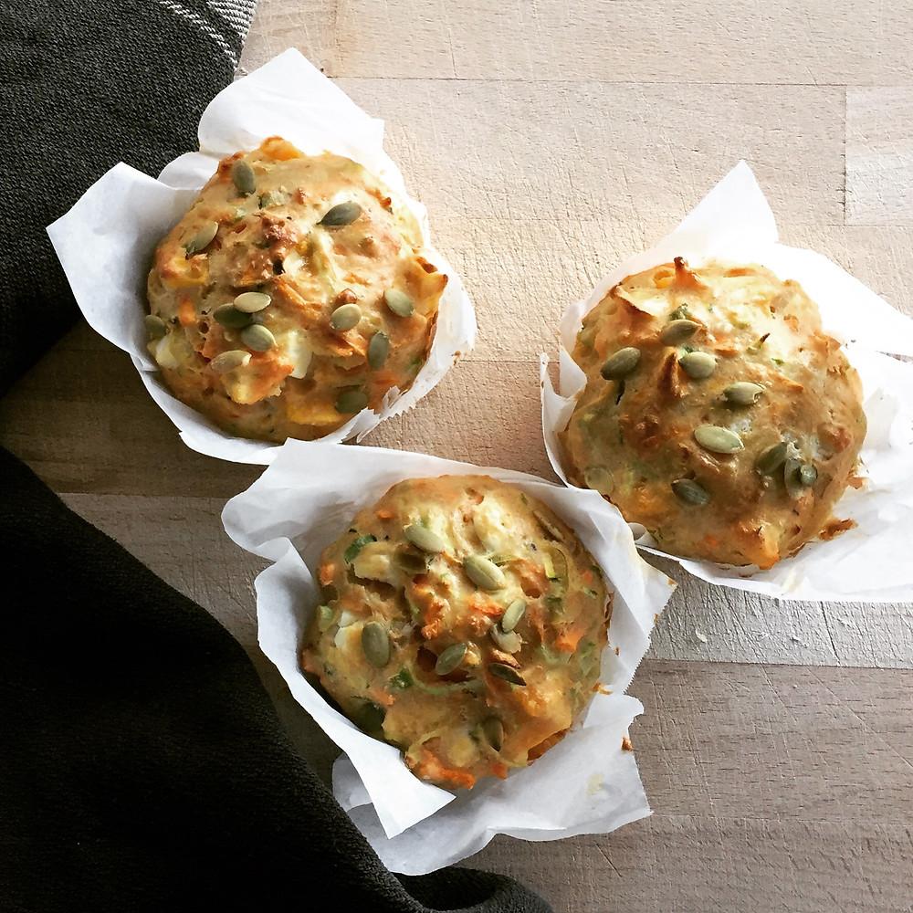 3 savoury muffins