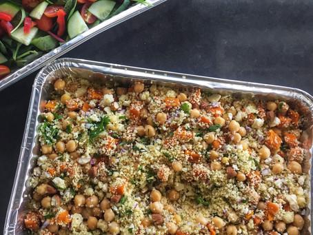 Pumpkin, Couscous, Feta and Chickpea Salad