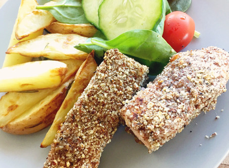 Sumac-Crusted Salmon with Wedges
