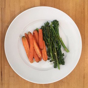 Honey-Glazed Carrots + Lemony Broccolini