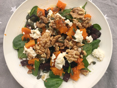 Beetroot, Pumpkin and Feta Salad