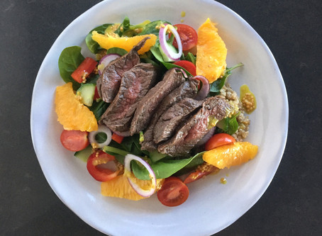 Beef, Spinach and Orange Salad
