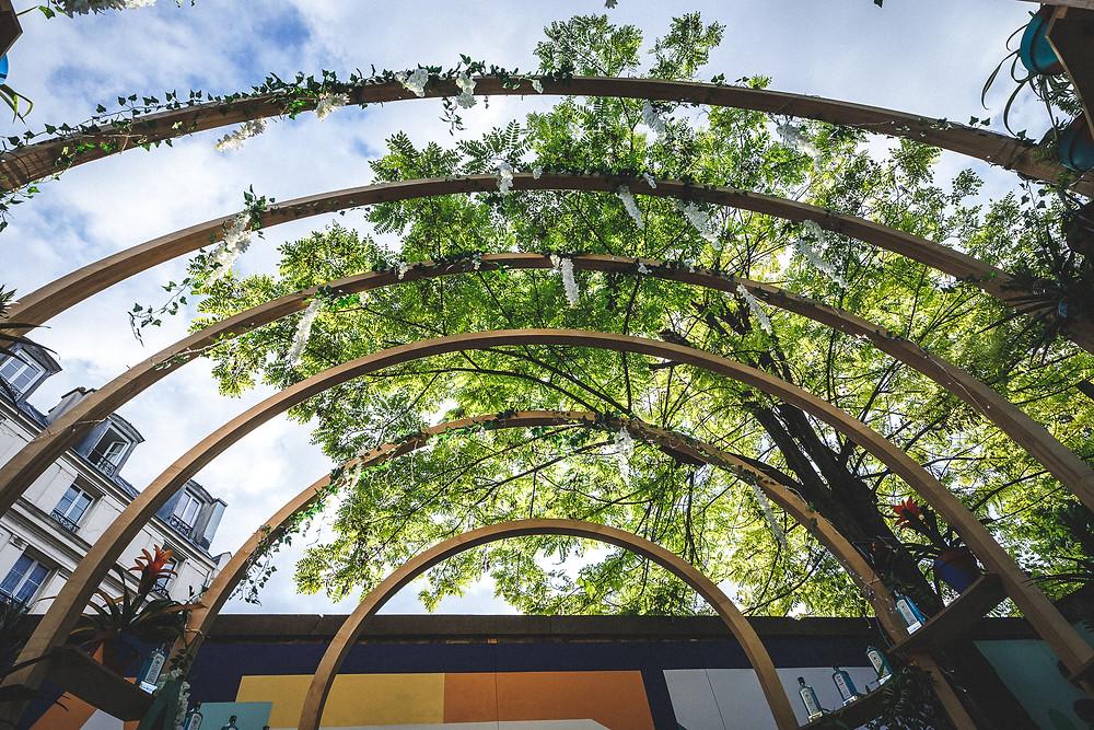 Café A I Bombay Sapphire I Eden Garden I Terrasse au Café A I gare de l'est paris I Leona Rose  I Cocktail I gin tonic paris