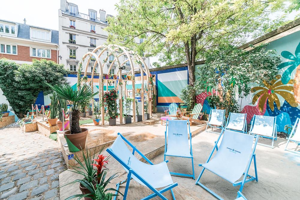 Terrasse Chill Paris I VisitParis I Brunch Paris I Terrasses Chill I Paris Plages Bombay Sapphire I Café A I Couvent des Recollets I 75010 Paris I Eden Garden
