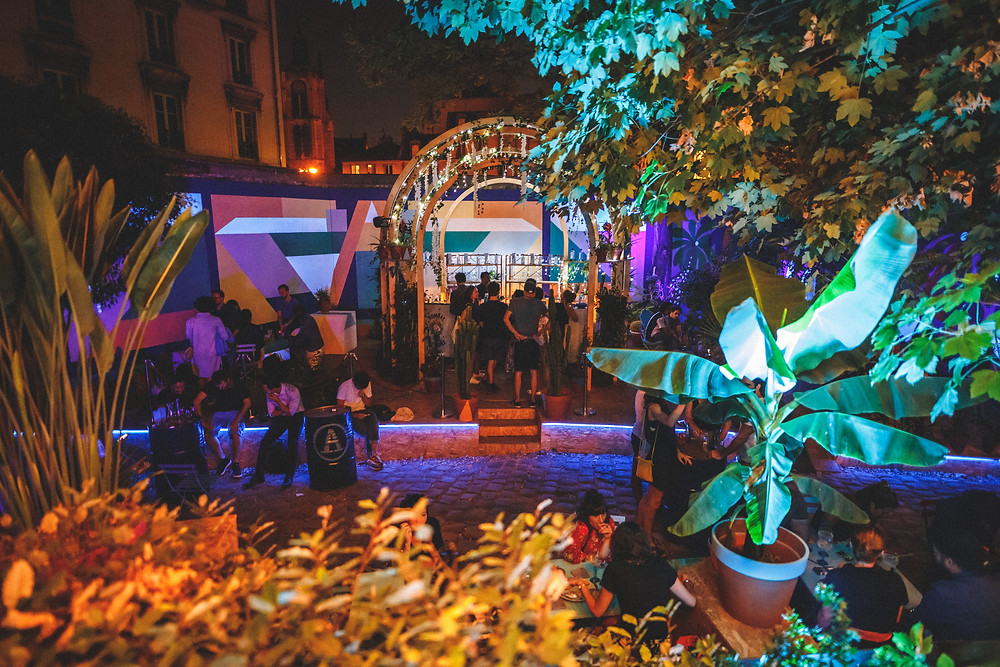 Cafe A i Eden Garden I Gare de l'est I Art I Bombay Sapphire
