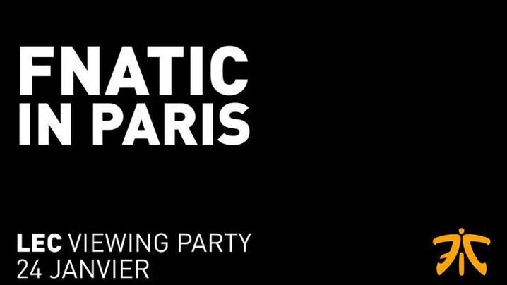 LEAGUE OF LEGENDS  Viewing party à Paris par Fnatic