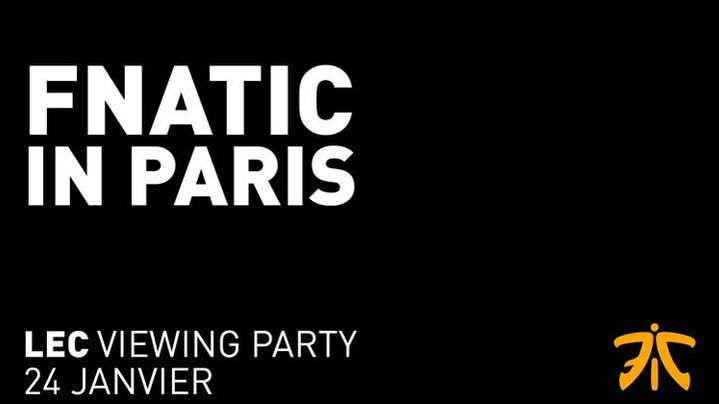 LEAGUE OF LEGENDS  Viewing party à Paris par Fnatic