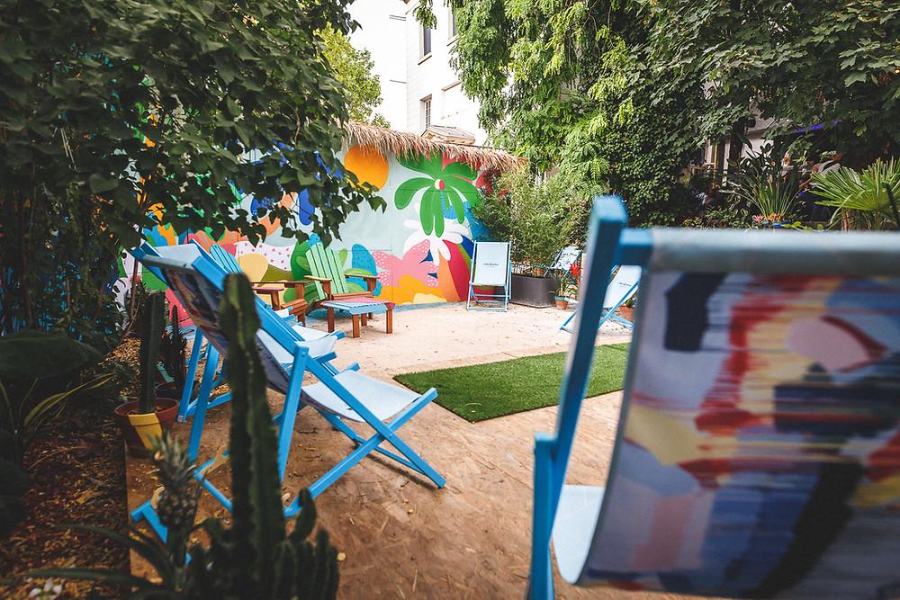 Café A I Bombay Sapphire I Eden Garden I Terrasse au Café A I Leona Rose I gare de l'est paris I Cocktail I gin tonic paris