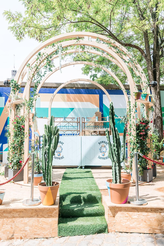 Eden Garden I Bombay Sapphire I Café A I Gare de l'est I Terrasse éphémère I Stir Creativity I un trait de créativité i Edengarden I 2019 I FUGU