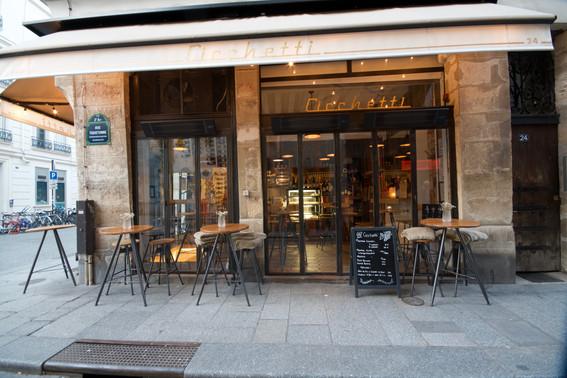 Bar à vins Cicchetti Paris 2eme Terrasse