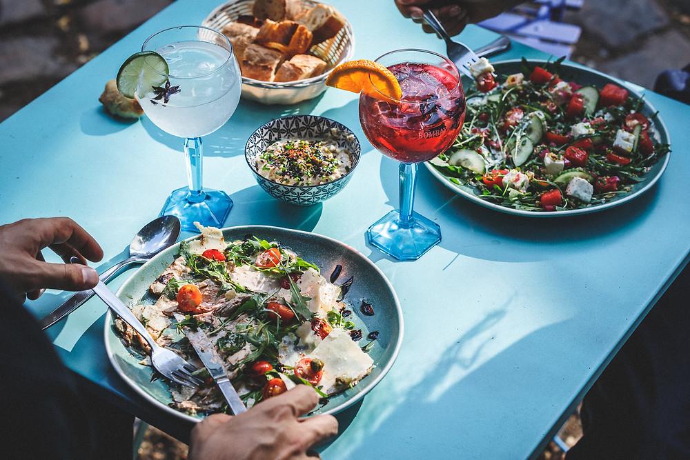 Café A I Bombay Sapphire I Eden Garden I Terrasse au Café A I gare de l'est paris I Bombay Sapphire I  Cocktail I gin tonic paris