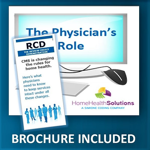 The Physician's Role: Power Point WITH BROCHURE
