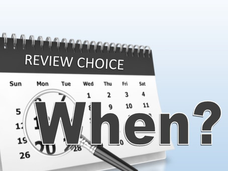 Review Choice: Who next and when?