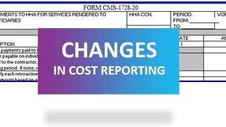 Changes in cost reporting